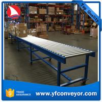Buy cheap Inclined mobile gravity roller conveyor system for store carton,boxes,packages in warehouse from wholesalers
