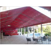 Buy cheap Outdoor Red Aluminum Frame Fabric Tent Structures , Fabric Shelter Systems from wholesalers