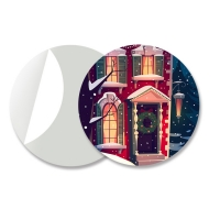 Buy cheap Small Size Adhesive 3D Lenticular Stickers PET/ PP Printing For Key Chain from wholesalers