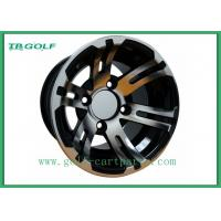 Buy cheap Black Hubcaps For Golf Cart Wheels 10x7 Machined Golf Buggy Accessories product