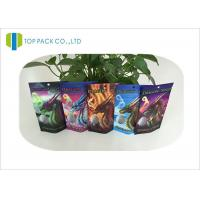 Buy cheap Custom Logo Herbal Incense Bags Stand Up Zipper Clear Window Heat Seal Laminated product