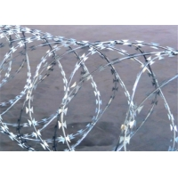 Buy cheap BTO-22 Barbed 2.5mm Concertina Razor Wire For Farm Fence from wholesalers