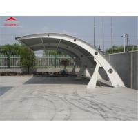 Buy cheap 1050gsm PVC Roof Fabric Tensile Membrane Structures / Mobile Car Tent Garage from wholesalers