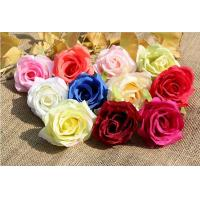 Buy cheap UVG FBL02 silk roses artificial flower head for wedding flower wall backdrop use from wholesalers
