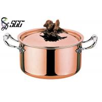 Buy cheap Polished Round European Copper Pot 3-Ply Cookware For Restaurants from wholesalers