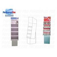 Buy cheap Store Temporary Card Cardboard Floor Shelving  Disinfectant Wipes Display Stands Full Colors Printed from wholesalers