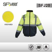 Buy cheap ANSI/ISEA 107 class 3 safety jacket hi vis polyester oxford reflective jacket workwear waterproof product