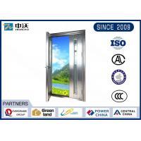 60 Minutes Subway Metal Fire Door , Insectproof  Metal Fire Exit Doors