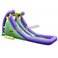 Buy cheap Plato 0.55 Mm PVC Tarpaulin Adults / Kids Outdoor Water Slide With Pool from Wholesalers