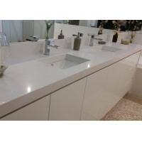 Buy cheap White Artificial Stone Bath Vanity Tops With Sink Eased Edges from wholesalers