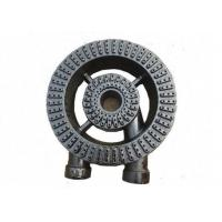 Buy cheap Commercial Cooking 2 Ring Gas Burner Cast Iron Black Painting Finished 3.5 KG from wholesalers
