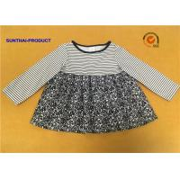 Buy cheap Long Sleeve Little Girl Summer Dresses Round Neck 100% Polyester Sample Avaliable from wholesalers