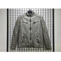 Buy cheap Winter Mens PU Jacket , Pu Leather Jacket With Garment Dyed Technical from wholesalers