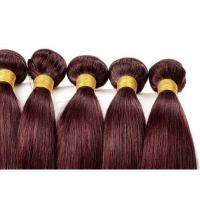 Buy cheap Red Straight Colored Human Hair Extensions Remy Brazilian Hair Weave from wholesalers