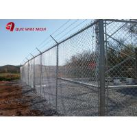 China 2 X 2 Heavy Duty Galvanised Chain Link Fencing 2 X 25 Meters Smooth Surface on sale
