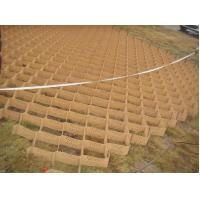 Buy cheap 75mm height textured surface HDPE Geoweb system for roadbed, retaining wall slope protection by professional factory from wholesalers
