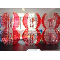 Buy cheap Outdoor Inflatable Kids Toys 1.8M TPU Material Half Blue Bubble Ball / Red Bubble Balls from wholesalers