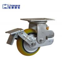 Buy cheap Single Spring PU Korean Shock Absorbing caster with brake from wholesalers