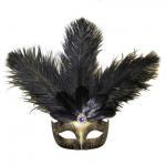 Buy cheap Black & Gold Mardi Gras Venetian Mask from wholesalers