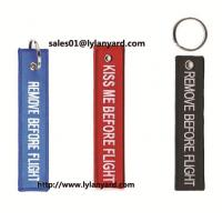 Buy cheap Embroidery Keychain Type Remove Before Flight Keychain from wholesalers