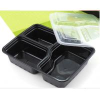 Buy cheap Popular 1000ml three-compartment PP material takeaway food trays with lid product