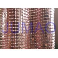 Buy cheap 4 Mm Rose Gold Metal Mesh Fabric, Ring Connection Aluminum Brass Mesh Fabric product