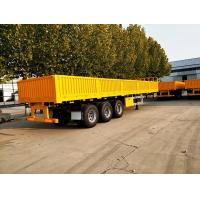 Buy cheap Three - Axle 40ft 30 Ton Cargo Semi Trailer Side Wall Mechanical Suspension from wholesalers