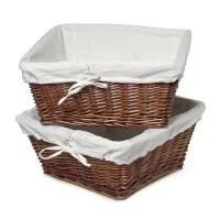 Buy cheap Large Wicker Storage Basket with Liner, Cherry from wholesalers