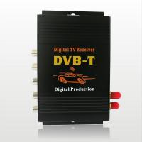 China CAR DVB-T MPEG-4 Double tuner Digital TV receiver Dual -tuner TV Box with multi language on sale