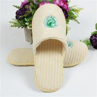 Buy cheap Light Yellow / White Towelling Slippers , Close Toe Disposable Slippers For Guests from wholesalers