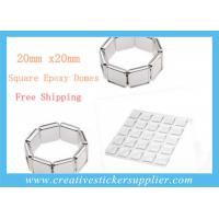 Buy cheap 20mm Rectangle Clear Epoxy Stickers product