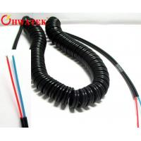 Buy cheap High Flexibility Electrical Coiled Extension Lead Curly Cord Cable Custom Made from wholesalers