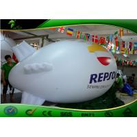 Buy cheap Wonderful White Inflatable Blimp / Air Blimp Helium Balloons 6m Long For Advertising from wholesalers