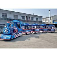 Buy cheap Thomas Outdoor Electric Trackless Train Tour Carousel Machine In Blue Color from wholesalers