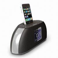 Buy cheap Speaker for iPod/iPhone, with Docking, Alarm Clock, Radio, and Large LCD Digital Display from wholesalers