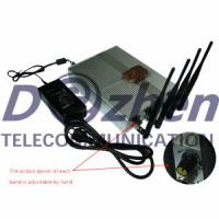 Buy cheap Power Adjustable Remote Control Mobile Phone Jammer + 60 Meters from wholesalers