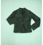 Buy cheap Women's Black Front Zipper Denim Jacket from wholesalers