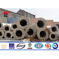 Buy cheap 11.9M High Tension Power Electrical Hot Dip Galvanized Steel Pole , Anticorrosive Power Line Pole from wholesalers