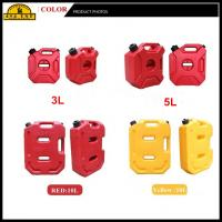 Buy cheap 3 Litre Red Plastic Portable Off Road Fuel Can / Atv Gas Container from wholesalers