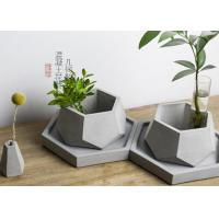 Buy cheap Polygon Shape Decorative  Silicone Concrete Plant Pot Molds DIY Clay Molds Size 12*5.5cm from Wholesalers