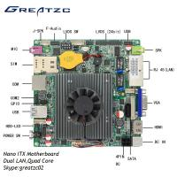 Buy cheap Dual LAN Nano ITX Motherboard Quad Core Celeron J1900 Processor With LVDS from wholesalers
