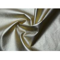 Gold Pearlied Polyurethane Faux Leather , Custom Synthetic Leather Fabric