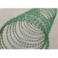 Buy cheap CBT Concertina Razor Barbed Wire Green Hot Dipped Galvanized Razor Wire from wholesalers