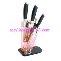 Buy cheap Clear acrylic knife display stand / plastic knife holder / acrylic knife rack from wholesalers