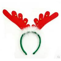 Buy cheap Christmas Feathers Bell Antlers Head Hoops promotion gift from Wholesalers
