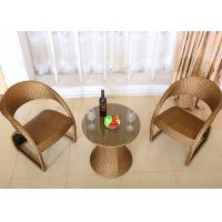 Buy cheap Golden PE Rattan Dining Table And Chairs Outdoor Balcony Furniture from wholesalers