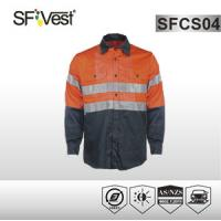 Buy cheap High vis clothing Overalls Or Coveralls , reflective safety workwear AS/NZS 1906.4:2010 product