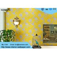 Buy cheap Modern Yellow Color Non Woven Wallpaper Washable For Livingroom , Size Customized from wholesalers