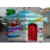 Buy cheap Customized Inflatable Christmas Decorations , PVC Inflatable Santa Grotto House from wholesalers