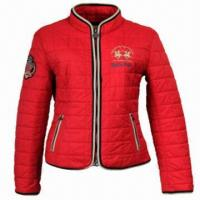 China Women's Pre-quilted Jacket, Water Repellent Finish, Double Welt Pocket  on sale